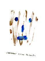 """""""Selbstbildnis"""" 16 / WVZ 3.260 / datiert Wiesmoor, 11.12.00 / diverse Farben auf Papier / Maße b 30,0 cm * h 42,0 cm"""