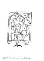 """22. """"Luftschloß"""" / datiert 12.07.01 / Bleistift und Filzstift auf Papier / Maße b 21,0 cm * h 29,7 cm / WVZ 3.371"""