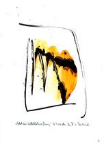 """""""Gebet in Selbstbeherrschung"""" - Die Bibel - / WVZ 3.147 / datiert 07.09.00 / Tusche und Aquarell auf Papier / Maße b 21,0 cm * h 29,7 cm"""