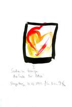 """""""II Suchen zu fangen die Seele der Petra!"""" / Werkverzeichnis 2.339 / datiert Steyerberg, 20.10.1999 Tusche und Aquarell auf Papier / Maße b 21,0 cm * h 29,7 cm"""