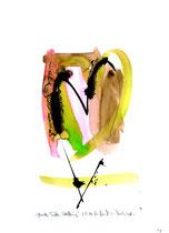 """""""Glaube, Liebe, Hoffnung"""" - Die Bibel - / WVZ 3.148 / datiert 07.09.00 / Tusche und Aquarell auf Papier / Maße b 21,0 cm * h 29,7 cm"""
