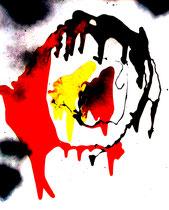 """""""Embryos"""" Gestringen, im Jahre 1988, Werkverzeichnis 97, Ölund Binderfarbe auf Papier, b 50,0 cm x h 60,0 cm"""