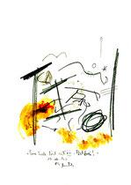 """""""Eine Seele löst sich - ist frei VII"""", Werkverzeichnis 578, vom 10.10.1995, Bleistift, Zigarre und Spülmittel auf Papier, Größe b 21,0 cm * h 29,7 cm"""