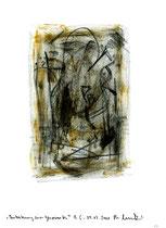 """17. """"Austreibung eines Gespinstes"""" / datiert 09.07.01 / Bleistift, Asche und Zigarre auf Papier / Maße b 21,0 cm * h 29,7 cm / WVZ 3.366"""