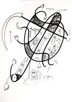 """""""o. T."""" 4 01.11.95 / WVZ 821 Filzstift und Tusche auf Papier b 30 cm * h 40 cm"""
