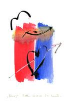 """""""Anna I"""" / Werkverzeichnis 3.176 / datiert Boddin, den 20.09.00 / Tusche und Aquarell auf Papier / Maße b 21,0 cm * h 29,7 cm"""