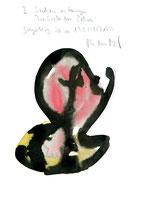 """""""I Suchen zu fangen die Seele der Petra!"""" / Werkverzeichnis 2.338 / datiert Steyerberg, 20.10.1951 (?) 1999 Tusche und Aquarell auf Papier / Maße b 21,0 cm * h 29,7 cm"""