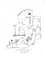 """""""o. T."""" 2 / Werkverzeichnis 1.336 / 07.07.1997 / Filzstift schwarz und rot sowie Bleistift auf Papier Maße jeweils b 24,0 cm * h 32,0 cm"""