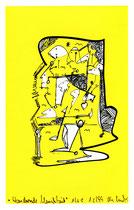 """""""Wandernde Menschheit"""" 1/2 C / Werkverzeichnis 2.389 / datiert 12.99 / PC-Zeichnung als Tintenstrahldruck auf Papier / Maße b 21,0 cm *h 29,7 cm"""