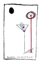 """""""o. T."""" Werkverzeichnis 1.342 / Bad Sobernheim, 23.07.1997 / Filzstift, Bleistift und Asche auf Papier / Maße b 29,5 cm * h 42,0 cm"""
