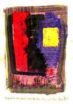 """""""Angekratzte Oberfläche"""" / WVZ 3.695 / datiert Torre del Mar, 29.02.04 / Ölkreide und Tinte auf Papier / Maße b 21,0 cm * h 29,7 cm"""