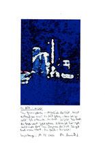 """""""Zu früh - zu spät a"""" / Sayalonga, den 19.12.2006 / Neudruck verkleinert 1/1 """"Wege zum Licht"""" und Text auf Papier / Originaldruck 1/1 / B 21,0 cm * H 29,7 cm / Werkverzeichnis 3:771a"""