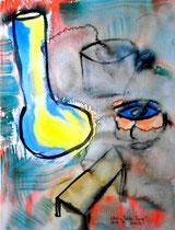 """""""Trübe Tasse"""" Gestringen, 08/92, Werkverzeichnis 307, Aquarell auf Papier, b 30,0 cm * h 40,0 cm"""
