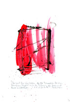 """""""Das sind die Wegstrecken, die die Israeliten bei ihrem Abzug aus Ägypten unter der Führung von Mose und Aaron zurücklegten."""" - Die Bibel - / WVZ 3.159 / datiert 07.09.00 / Tusche und Aquarell auf Papier / Maße b 21,0 cm * h 29,7 cm"""