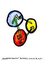 """""""Kreativitätskreis Sobernheim"""" / Werkverzeichnis 1.652 / datiert Bad Sobernheim, 22.07.1998 / Aquarell und Tusche auf Papier / Maße b 36,0 cm * h 48,0 cm"""