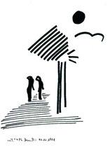 """""""o. T."""" 4 / Werkverzeichnis 1.797 / Datiert 01.11.98 / Textilfarbenfilzstift auf Pappe / Maße b 25,5 cm * h 34,2 cm"""