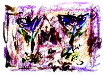 """""""Frieden"""" Isny, den 09.12.1991, Werkverzeichnis 263, Tusche, Tinten und Ölkreide auf Papier, b 40,0 cm * h 30,0 cm"""