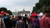 Brandenburger Tor, Event Fahrrad-Sternfahrt in Berlin. Foto: Helga Karl