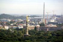 Blick vom Europacenter in Charlottenburg über den Tiergarten und Siegessäule. Foto: Helga Karl