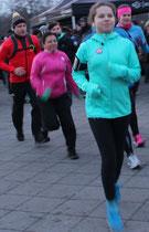 Frauen beim Laufen. Olympia Lauf Berlin beim Brandenburger Tor. Foto: Helga Karl