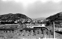 L'entrepôt de liège et la ville de Collo vus de la cité proche de l'usine de liège (juillet 1960)
