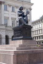 La statue de Nicolas Copernic