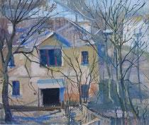 Blick aus dem Fenster (Gouache 20x30 2005)
