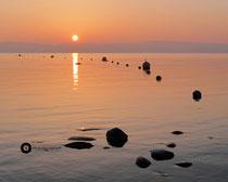 Sonnenuntergang im Strandbad Uhldingen