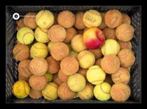 Alte Tennisbälle