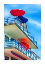 Bunte Balkons