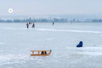 Eislauf am Untersee (Campingplatz Hegne)