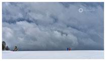 Aufkommender Schneesturm am Heiligenberg