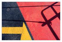 Markierung auf Autofährenboden