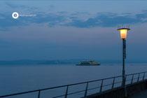 Morgens mit der Fähre von Meersburg nach Konstanz
