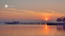 Sonnenuntergang in Hagnau (Langzeitbelichtung)
