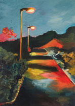 Meenz 4, 2014, acrylic on canvas, 140 x 100 cm