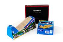 Nespresso-, Generoso- und DAR VIDA-Verpackung