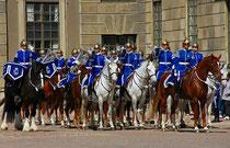 Stockholm - Wachablösung im königlichen Schloß