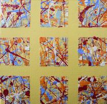 Nr.8 gelb 20x20 Acryl auf Leinwand