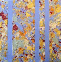 Nr.1 blau 20x20 Acryl auf Leinwand