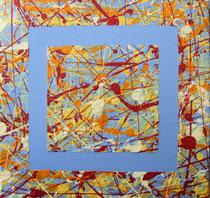 Nr.7 blau 20x20 Acryl auf Leinwand