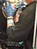 Mauri Manolibera Tattoo - Ti-Tattoo Convention Lugano 2015 - con Kennedy 1 Tattoo, Chiasso (CH)