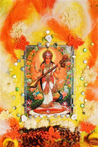 """Saraswati-Devi: Goddess of Knowledge and Arts"""