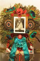 """""""Geboren aus Glückseligkeit"""": AnandamayiMa, eine verstorbene indische Heilige. € 90,-. Relief by Walpurgis."""