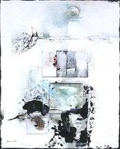 Verlorene Siege 1, Acrylfarbe, Holz, Polyesterglas auf Lw., 100 x 80 cm