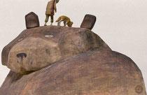 「なめとこ山の熊」2018年ギャラリーハウスMAYA 装画コンペVol.18 入選