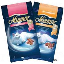 Miamor Cat Confect Mini-SticksKatzenzarte Mini-Sticks als leckere Zwischenmahlzeit in köstlicher Variation, häppchengerechte Stücke, angereichert mit Traubenkernextrakt für eine zusätzliche Zellschutzfunktion