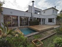 Deck coulissant sur piscine - Le Bouscat