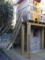 Terrasse, balcon, escalier - Bordeaux