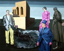 Treffen, 2017, Öl auf Leinwand, 120 x 150 cm